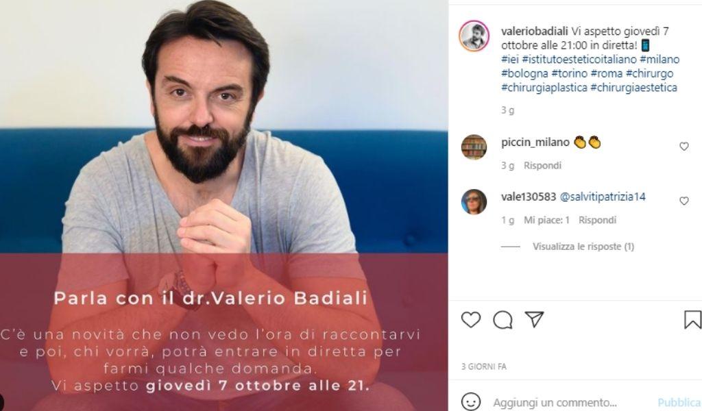 valerio-badiali-diretta-instagram-7-ottobre